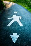 Viale pedonale Fotografia Stock