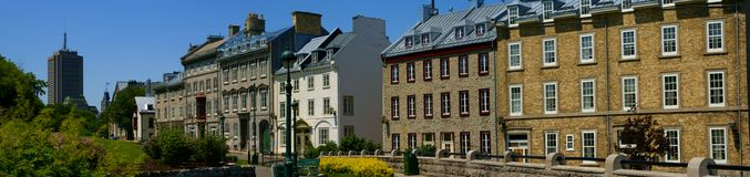 Viale St-Denis di Quebec City Fotografia Stock Libera da Diritti