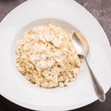 Vialone Nano Risotto rice with shaved hard cheese Stock Image