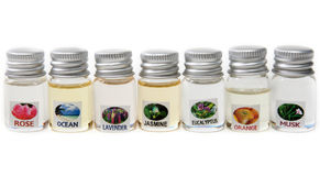 Vials aromatic oil Royalty Free Stock Photography