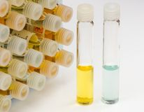 Vials - chemistry Royalty Free Stock Image
