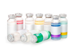 Vials with colored substances Stock Images