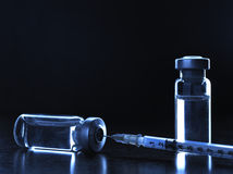 Vials of medications. Royalty Free Stock Photo