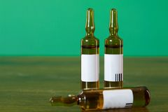 Vials with medicine Stock Photography