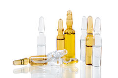 Vials of medicine on a white background Royalty Free Stock Photos