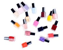 Vials nail polish in bulk Royalty Free Stock Photography