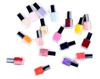 Vials nail polish in bulk Royalty Free Stock Photography