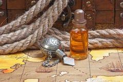 Vials of perfume oils Stock Photography