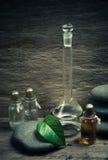 Vials of perfume oils Stock Photo