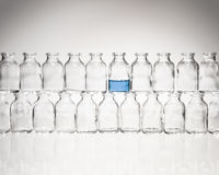 Vials Stacked in a Row Stock Image
