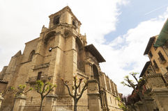 Viana church, road to Santiago de Compostela, Navarre, Spain Royalty Free Stock Image