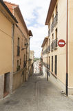 Viana city street, road to Santiago de Compostela, Navarre, Spain Royalty Free Stock Image