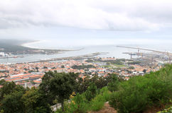 Viana do Castelo and Lima river, Portugal Royalty Free Stock Photos