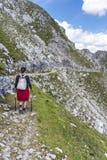 Viandante alla montagna di Norkette, Innsbruck, Austria Fotografia Stock Libera da Diritti