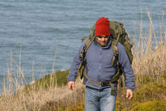 Viandante/alpinista Fotografie Stock
