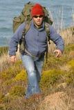 Viandante/alpinista Immagini Stock