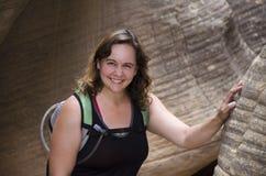 Viandante del canyon della scanalatura Immagini Stock Libere da Diritti