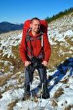 Viandante della montagna Fotografie Stock
