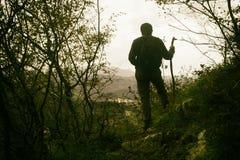 Viandante della montagna Immagini Stock