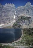 Viandante nel lago iceberg Immagine Stock Libera da Diritti