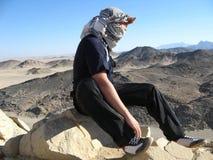 Viandante nelle montagne Fotografie Stock Libere da Diritti