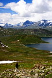 Viandante in Norvegia Immagini Stock