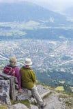 Viandanti alla montagna di Norkette, Innsbruck, Austria Fotografia Stock Libera da Diritti