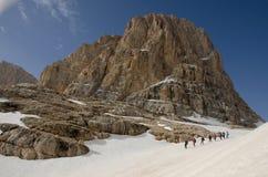 Viandanti della montagna Fotografie Stock
