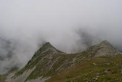 Viandanti nella nebbia Fotografia Stock Libera da Diritti
