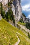 Viandanti sulla montagna di Piatra Craiului Immagine Stock