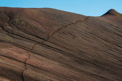 Viandanti sulla traccia di Laugavegur, Landmannalaugar, Islanda fotografia stock libera da diritti