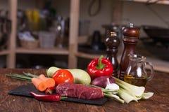 Viande avec des légumes Image libre de droits