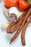 Viande avec des tomates Photographie stock