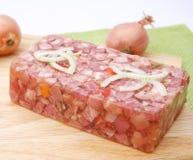 Viande avec la gelée photographie stock