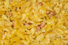 Viande avec les pommes de terre et le repas Image stock