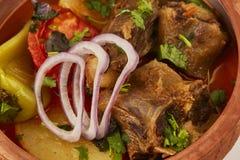 Viande bouillie avec des légumes Images libres de droits