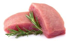 Viande brute avec le romarin photo libre de droits
