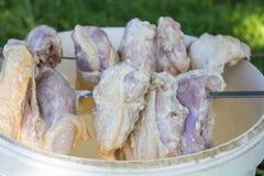 Viande brute de poulet Image libre de droits