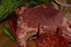 Viande crue Photo stock