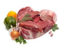 Viande crue avec des légumes Photos libres de droits