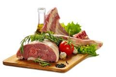 Viande crue d'agneau Images libres de droits