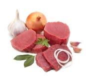 Viande crue d'isolement Images stock
