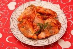 Viande crue de poulet image stock
