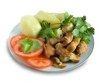 Viande cuite Image libre de droits