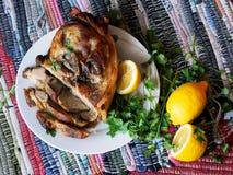 Viande cuite au four Images libres de droits