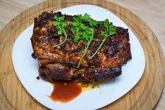 Viande cuite au four photo stock