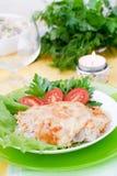 Viande cuite au four avec des champignons Images stock