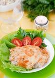 Viande cuite au four avec des champignons Images libres de droits