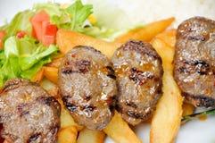 Viande cuite, boulettes de viande grillées photos stock