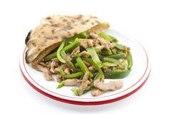 Viande cuite et paprika Avec du pain Images stock